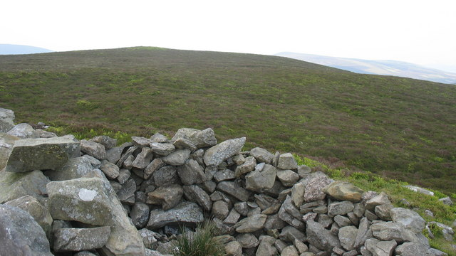 The summit cairn of Moel Fferna