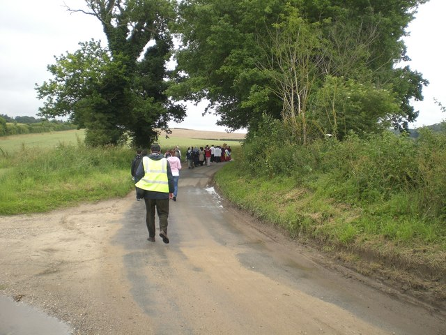 Pilgrim procession near Little Walsingham