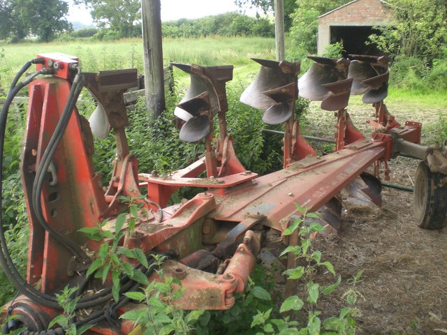 Five furrow plough