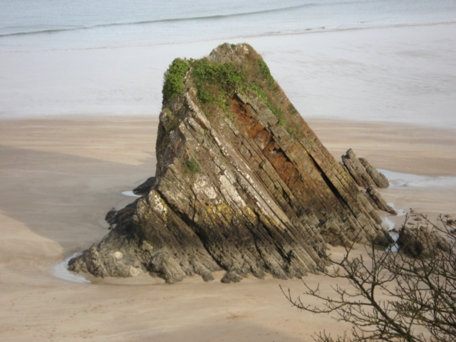 Closeup of Gosker Rock