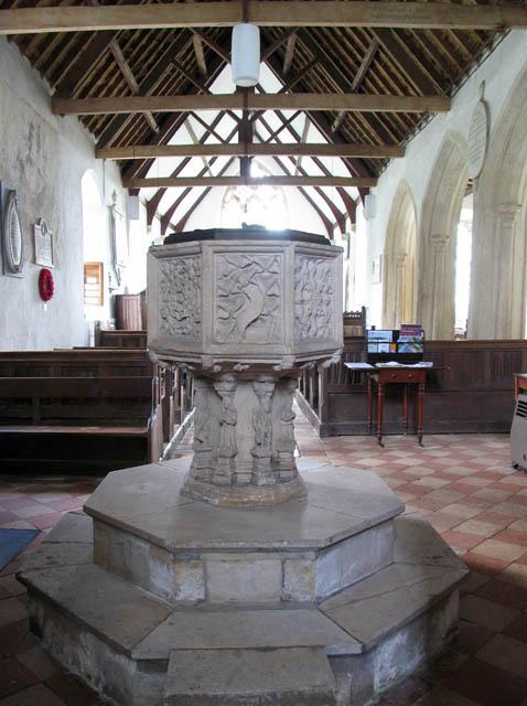 St Michael, Irstead, Norfolk - Font
