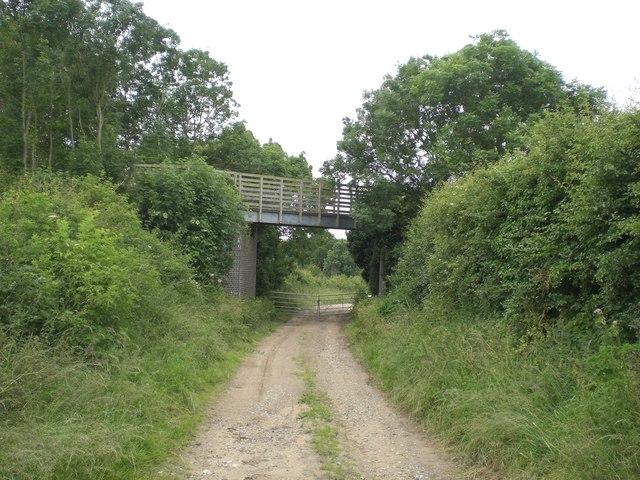 Pilgrim's Way bridges farm track