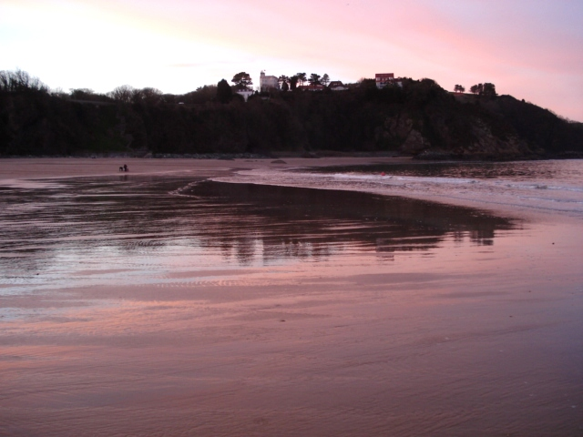 Sunset at Tenby North Beach