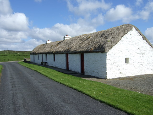 A traditional Caithness crofter's longhouse