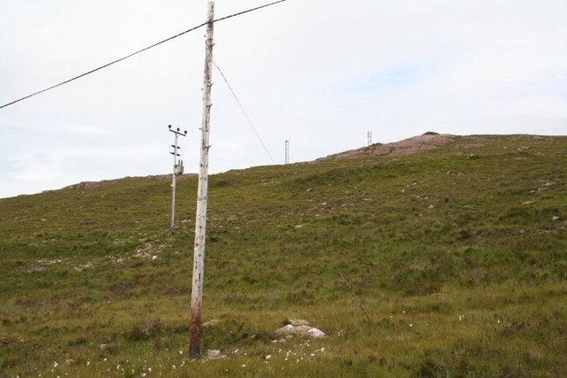 Power lines on moorland