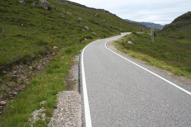 Single track road.