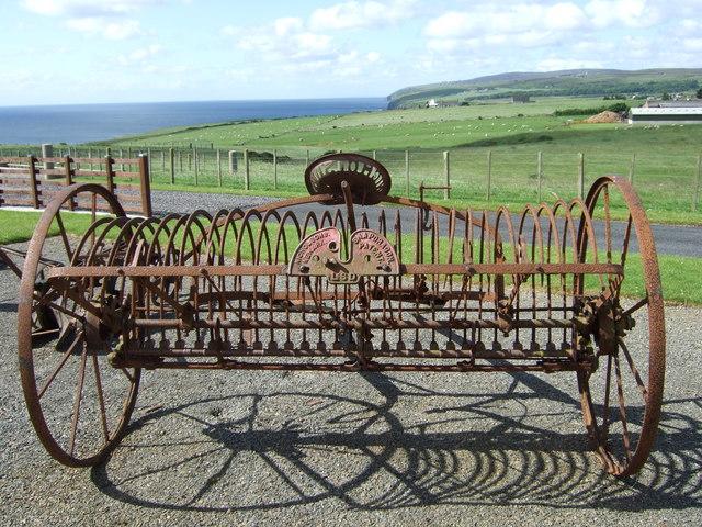 Hay rake - rear view