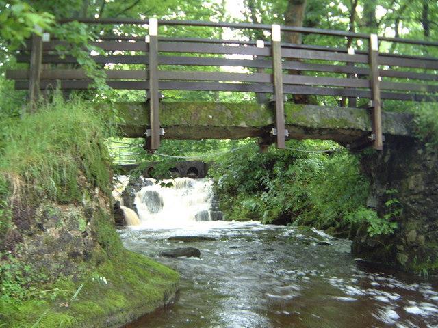 Old Foot Bridge near Lickhurst Farm.