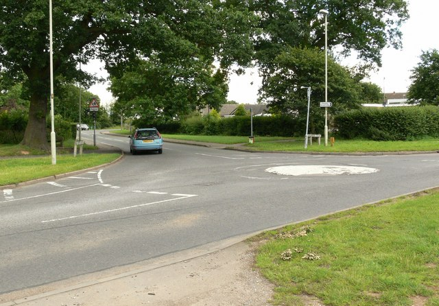 Mini roundabout in Blaby
