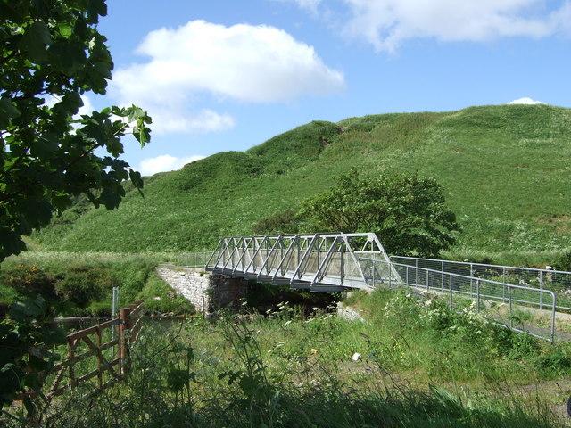 Footbridge over Dunbeath Water
