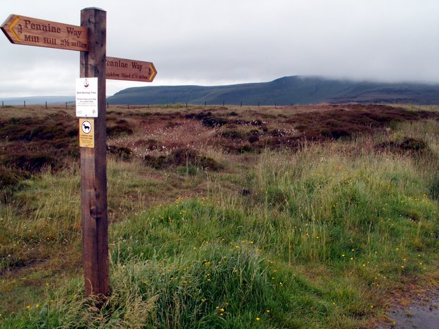 The Pennine Way at the Snake Summit