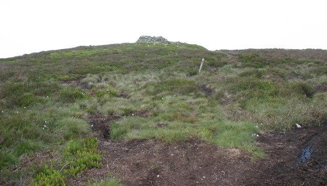 Below the summit cairn of Moel Fferna