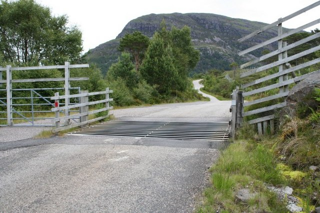 Cattle grid on a single track road.