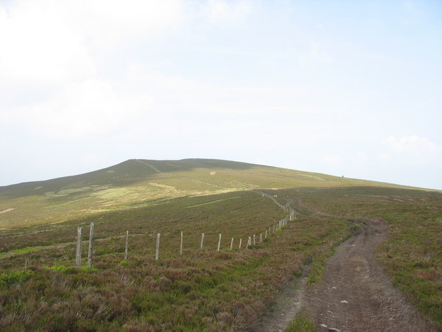 Follow the fence to the summit of Moel Fferna