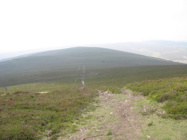 View back across the saddle from the slopes of Moel Fferna