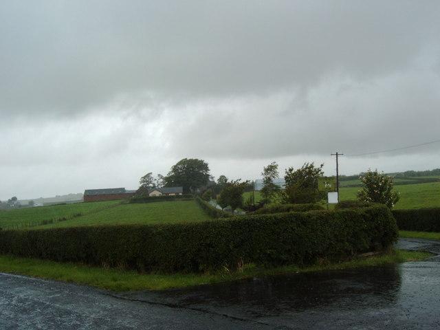 Muirhouse Farm on a rainy day