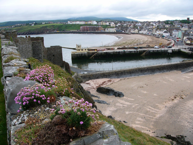 Peel Bay from the castle walls