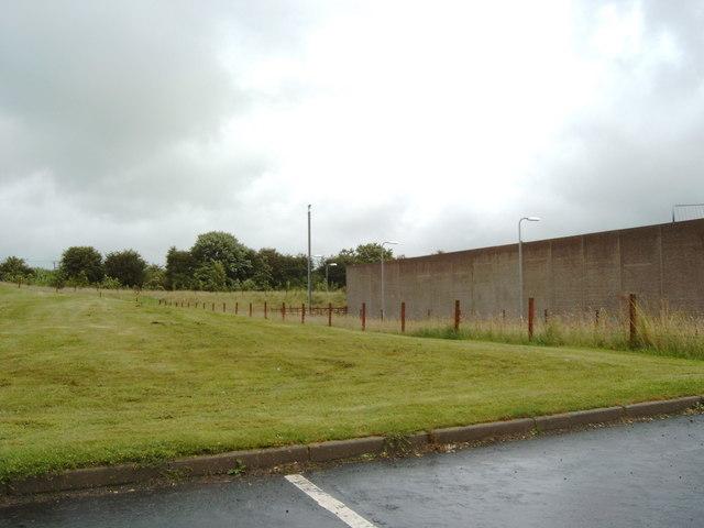 Prison wall of HMP Kilmarnock
