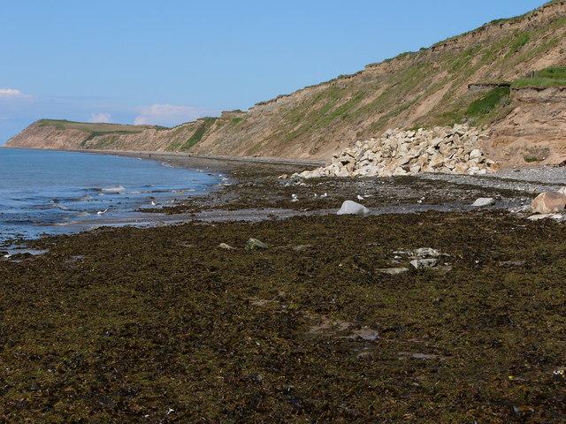 Coastal cliffs looking north east, Glen Wyllin
