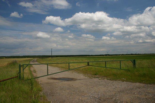 Gated farm track