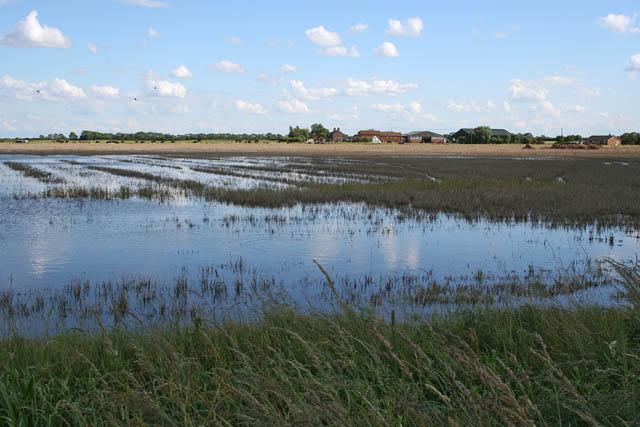 Flooded farmland on Thacker Bank