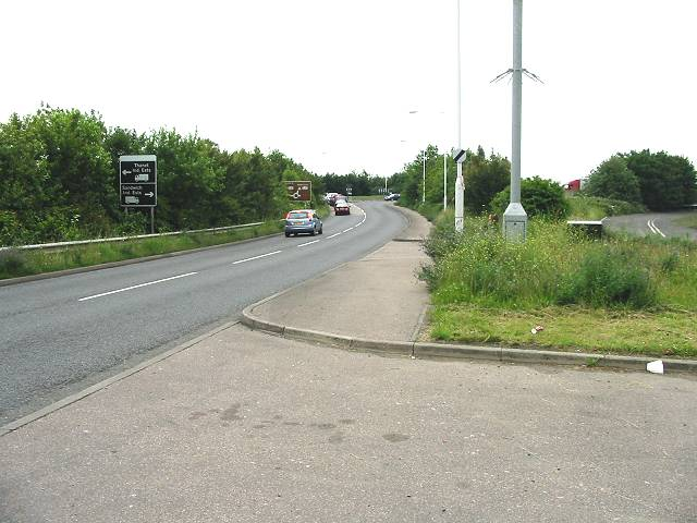 The approach to Lord of The Manor roundabout