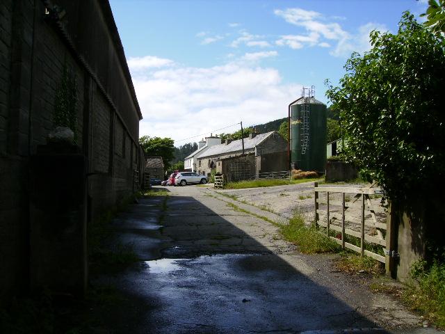 Entrance and yard at Ballavitchel Farm