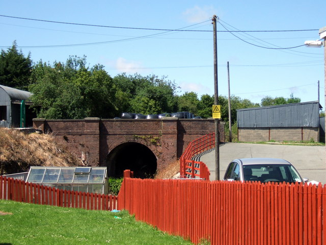 Tunnel at Crymych station
