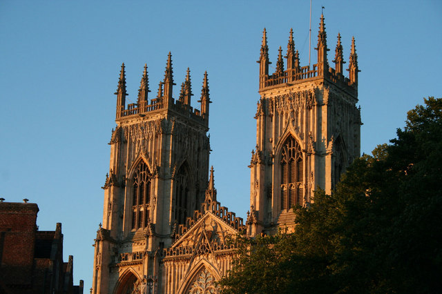 Evening sun on York Minster