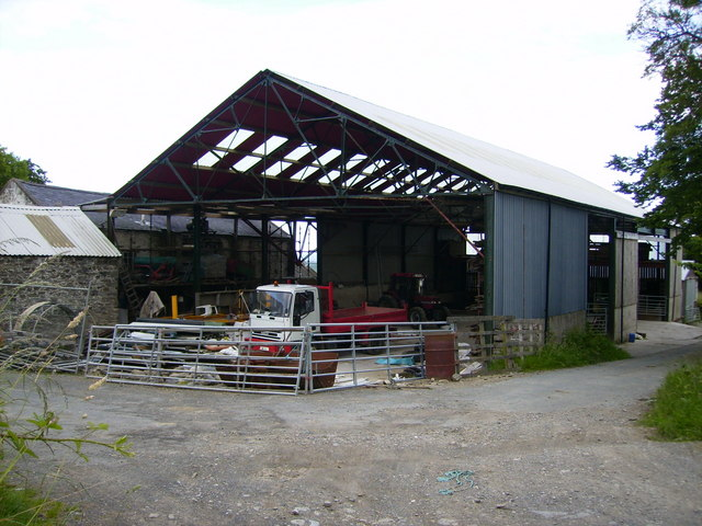 Large barn and buildings at Ballig Farm