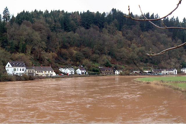 Tintern - the river Wye in flood
