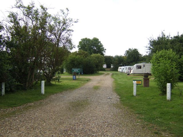 Caravan park by the Lynn Road, Swaffham