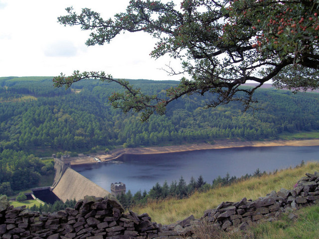 Derwent Dam from above
