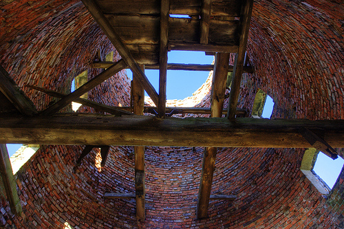 Inside old windmill