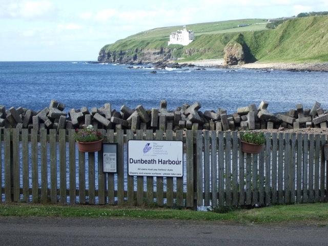 View across Dunbeath Bay