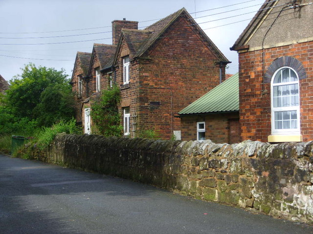 Miners Cottages next door to the church