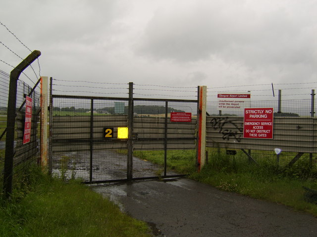 Emergency vehicle access to Glasgow Airport