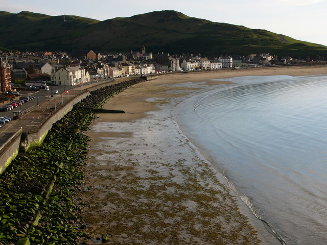 Peel beach and seafront buildings