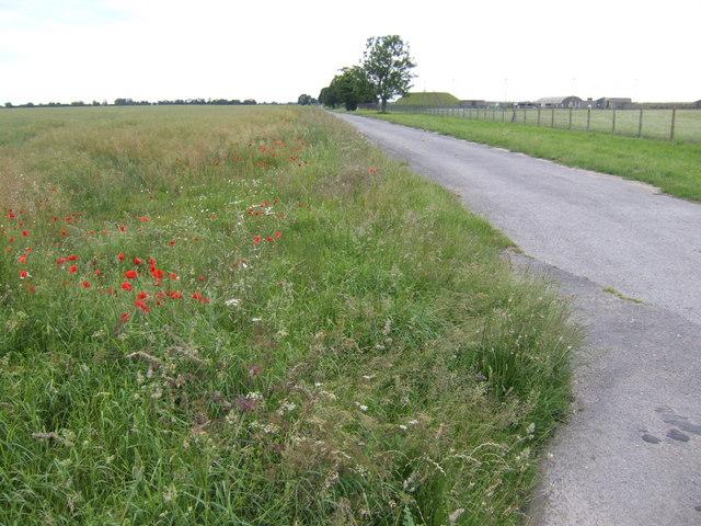 Southern perimeter of Marham Airfield