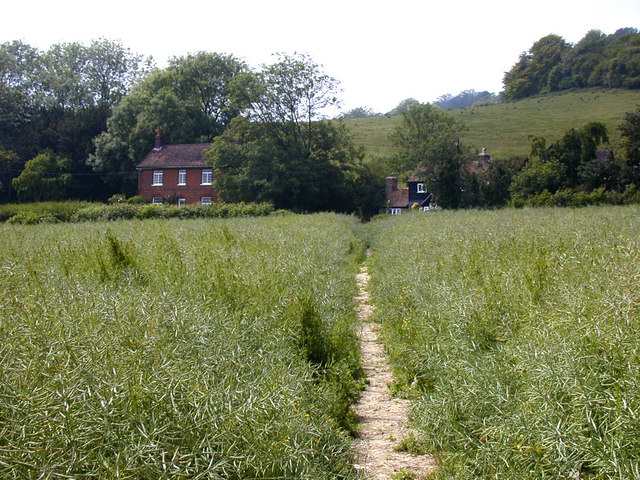 Hognore Farm, from footpath to Wrotham Water Road