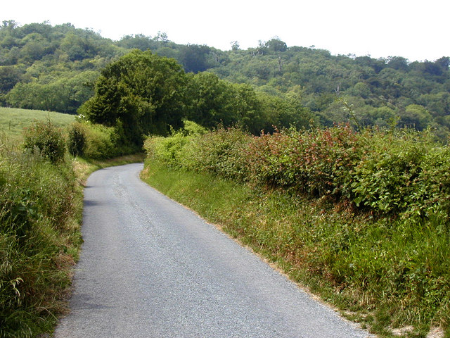 Wrotham Water Road, looking towards the North Downs
