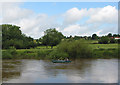SO5823 : Fast flowing Wye downstream from Wilton by Pauline Eccles