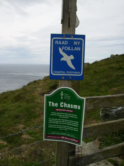 "Manx National Heritage Site ""The Chasms"""