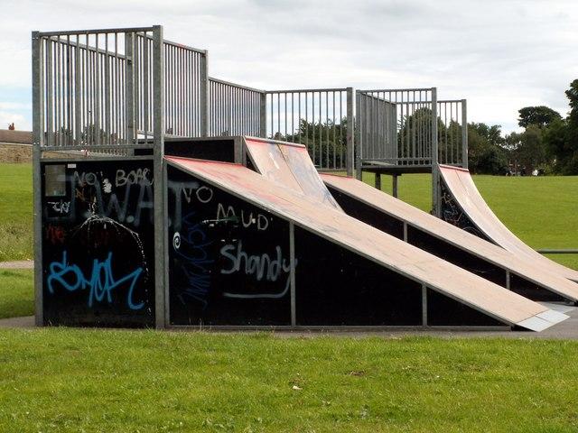 Ramps in the Skate Park Penistone