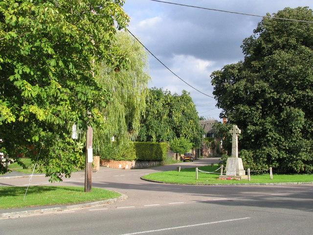 Weston Turville - North end of School Lane looking East