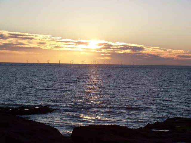 Windmills at Sunset from Hilbre Island