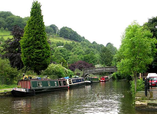 The Rochdale Canal near the Visitor Centre