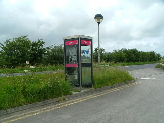 Telephone Box outside the old Little Chef (A36)