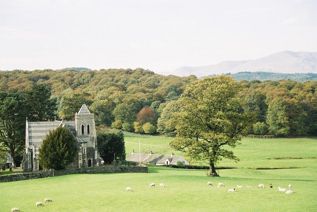 Far Sawrey: church of St. Peter and beyond