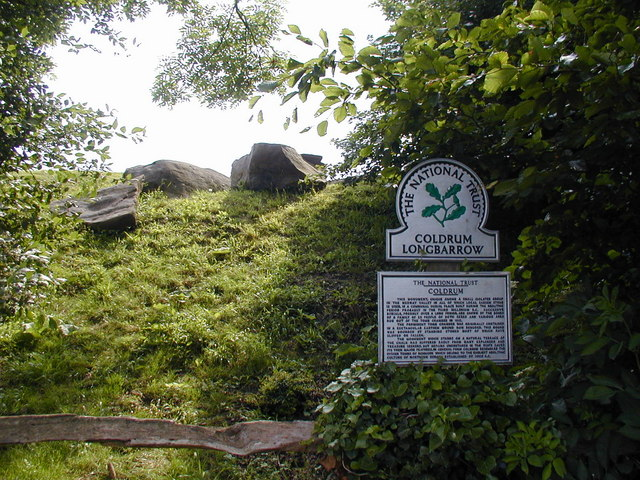 Part of Coldrum Long Barrow and sign